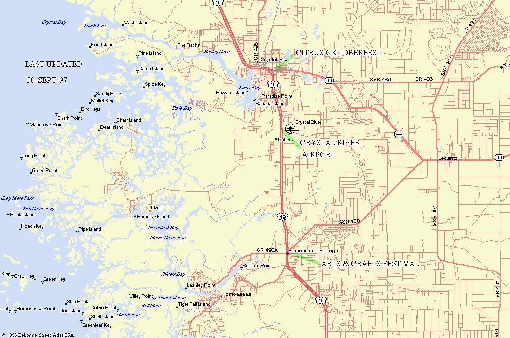 THIS IS A MAP OF THE CRYSTAL RIVER AREA
